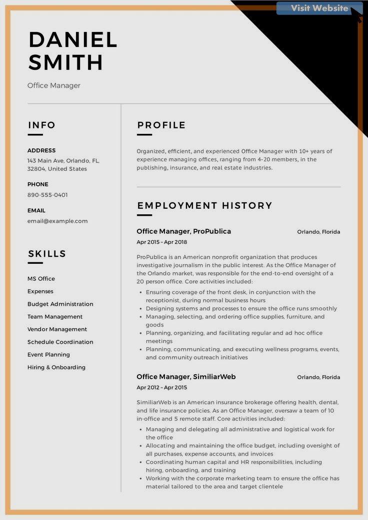 Basic Resume Examples Minimalist Resume Examples in 2020