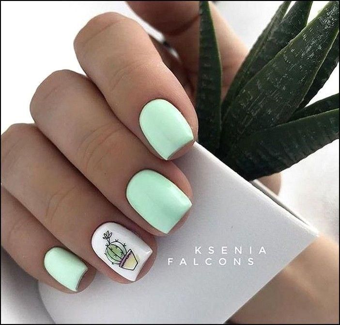 91+ simple short acrylic summer nails designs for 2019 – page 30