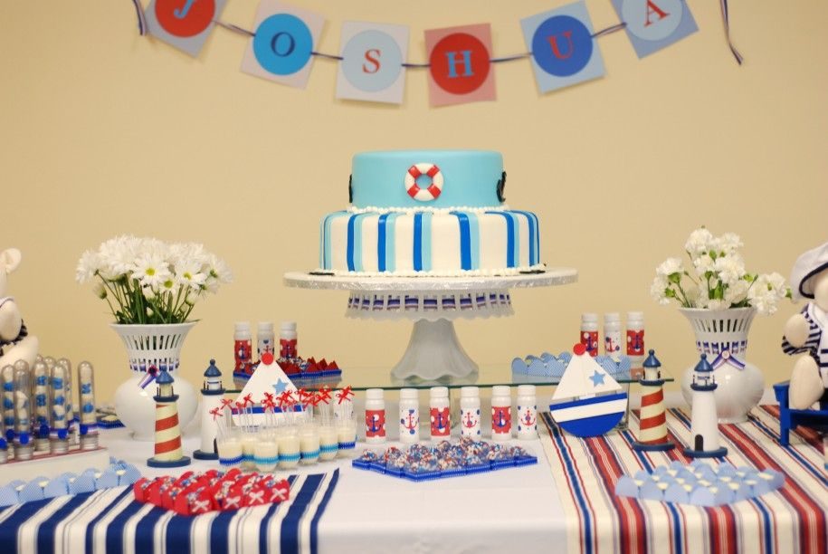 Cool Birthday Party Table Decoration Ideas With Sailor Decorations Amazing First For Boys Rudedogdesigns Home
