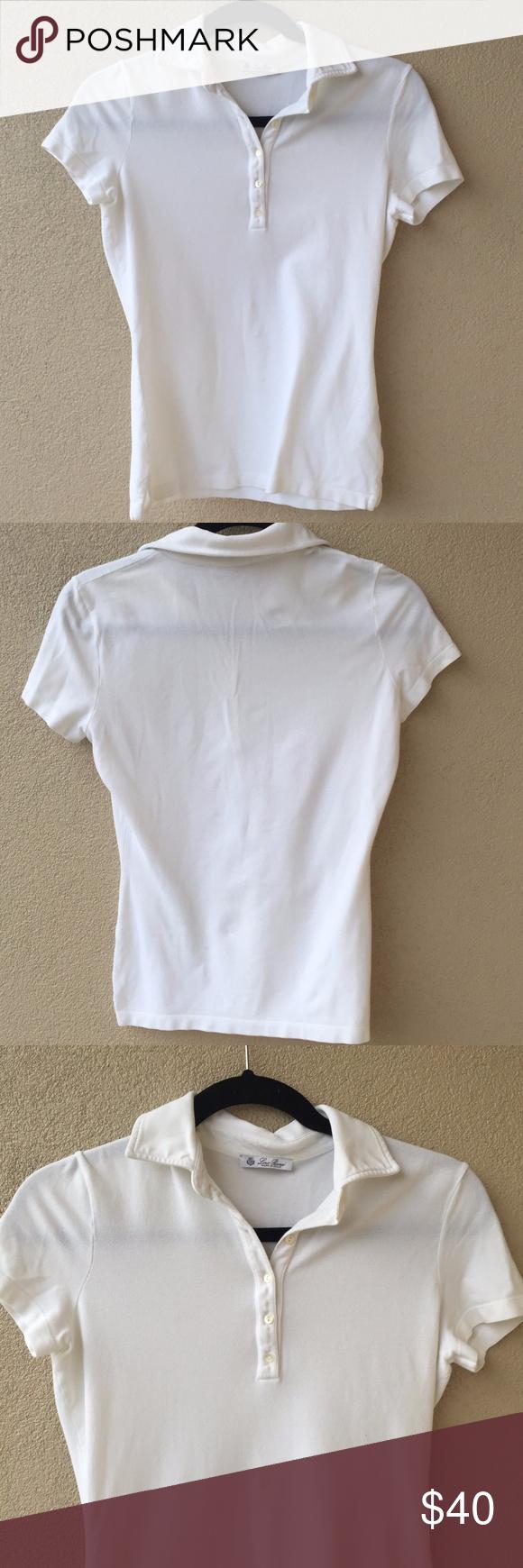 Woman Polo Shirts loro piana white cotton polo shirt woman