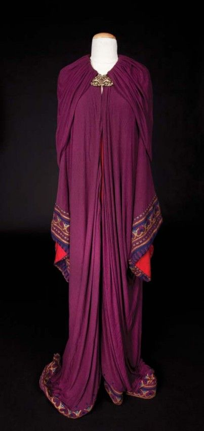 Nina Foch wine crepe cape from The Ten Commandments : Lot 382