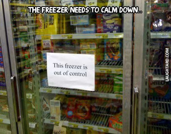 The freezer needs to calm down #funnypictures	#lmao #lol