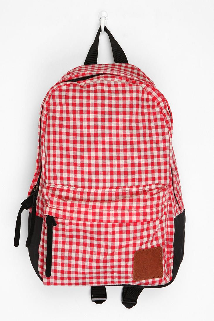 Carrot Gingham Backpack - Urban Outfitters