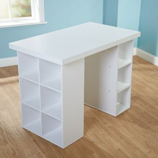 Simple living counter height craft desk by simple living for Counter height craft table with storage