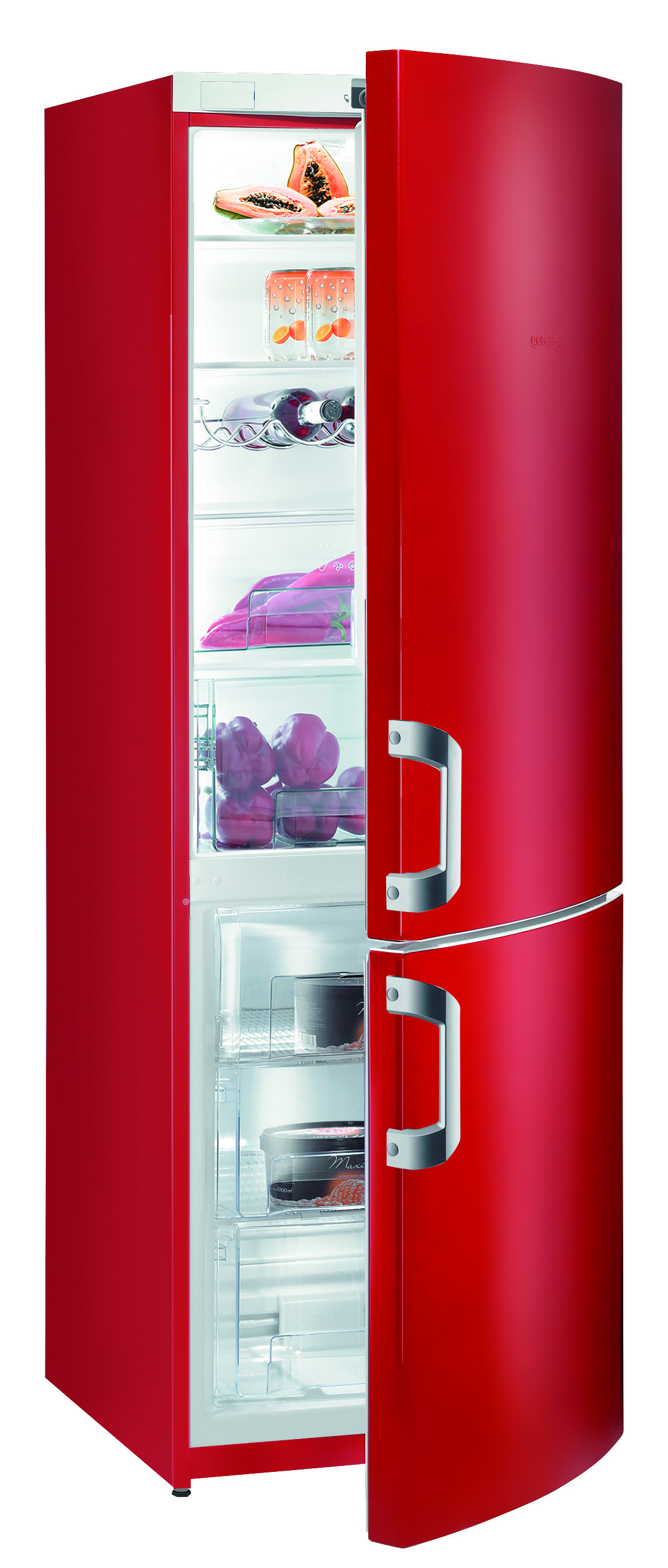Yellow Fridge Freezer For A Fashionable Kitchen Gorenje Red Fridge Freezer