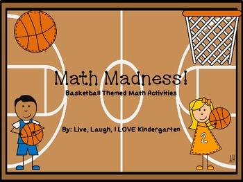 Math Madness Basketball Themed Math Activities Math Activities Math Madness Sports Theme Classroom