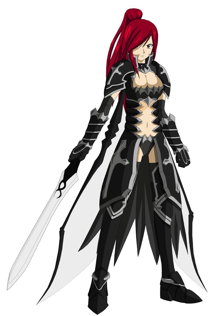 Erza et l 39 armure aux ailes noires erza scarlet - Dessin armure ...