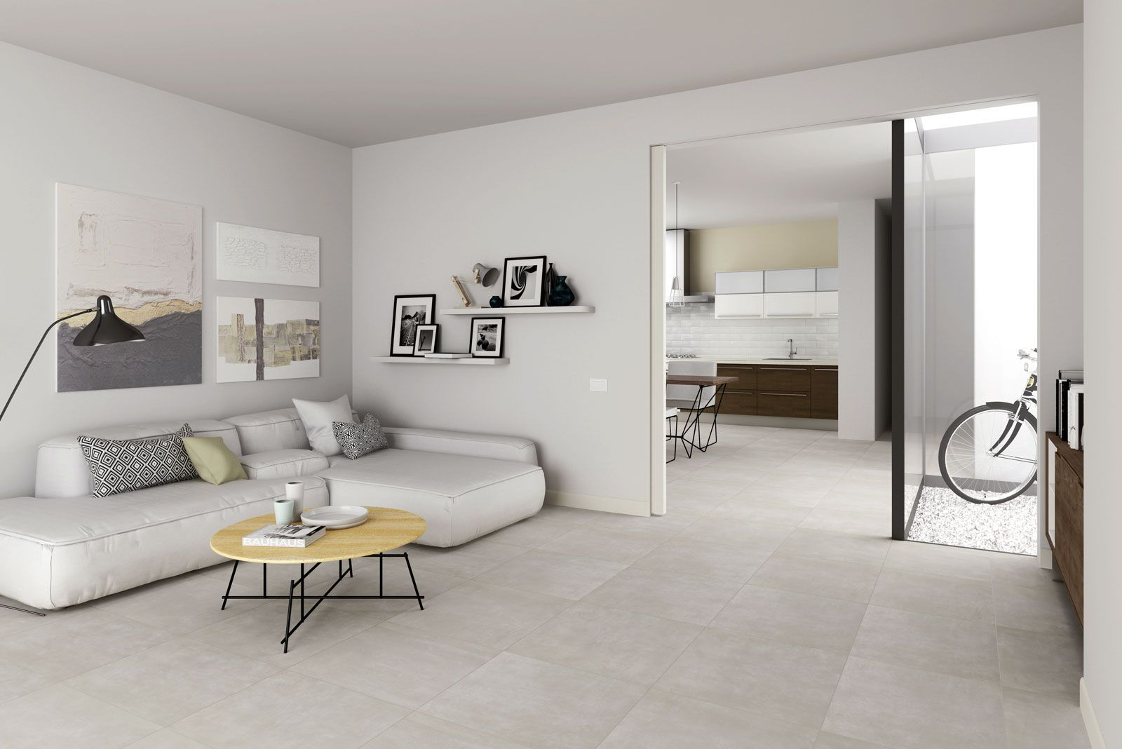 Marazzi Dust Cream 33 3x33 3 Cm Mmt7 Porcelain Stoneware Stone 33 3x33 3 On Bathroom39 Com At 20 Euro S Living Room Tiles Home Tile Floor Living Room