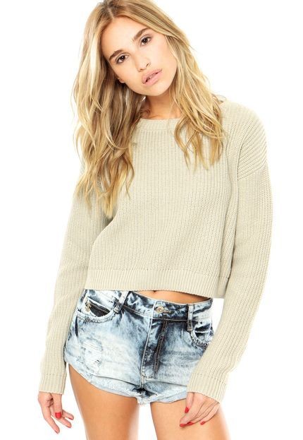 Blusa Canal Tricot Cinza - Marca Canal