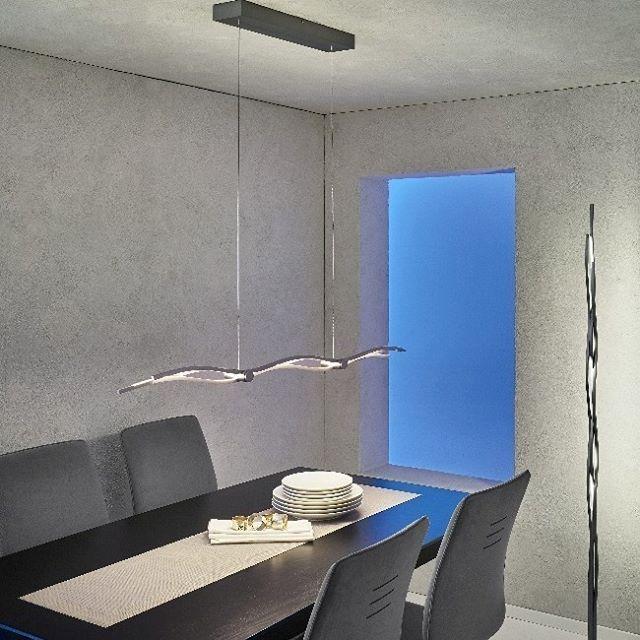 Fabulous Helle dimmbare und wohnliche Esstisch Beleuchtung mit der neuen LED H ngeleuchte Silk
