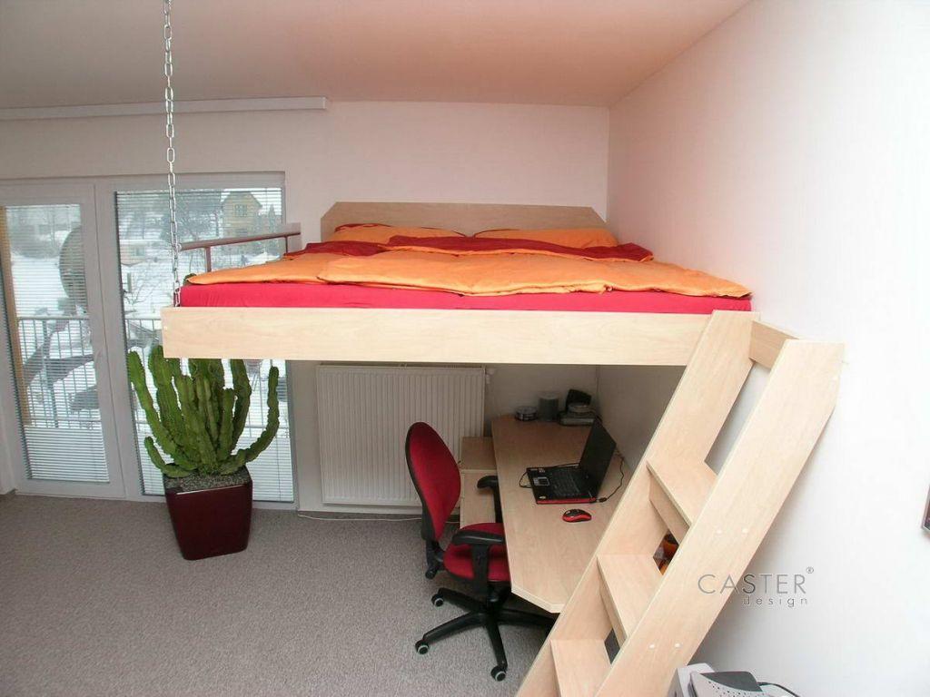 Vysoké+poschodová+posteľ+-+stropné+závesné