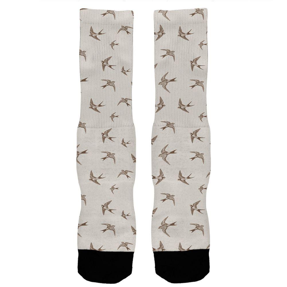 Sparrows All Over Crew Socks | AnimalWorld.com