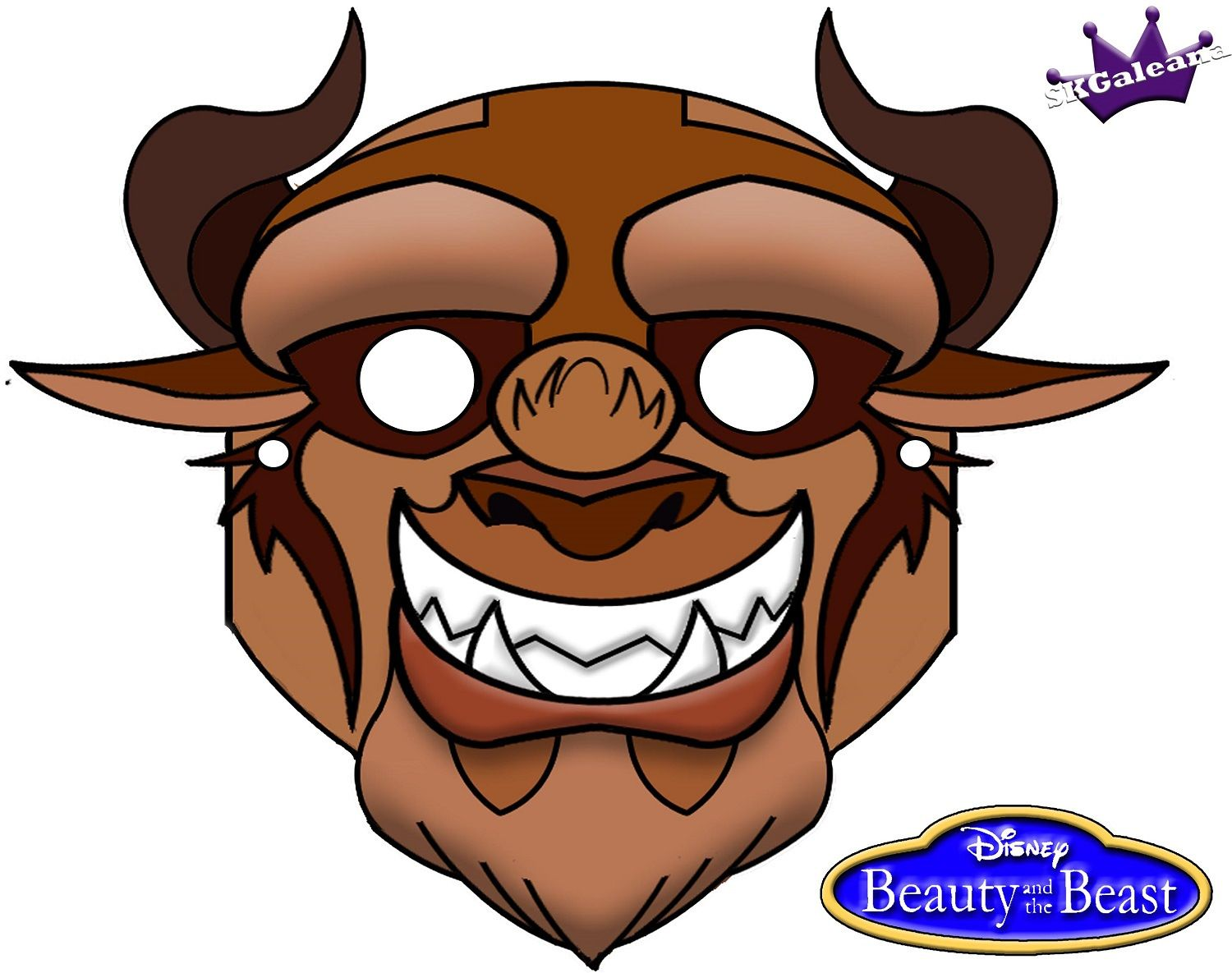 Beast From Disney Beauty And The Beast Free Printable Mask (super Creepy,  But Good Face Reference!  Free Printable Face Masks