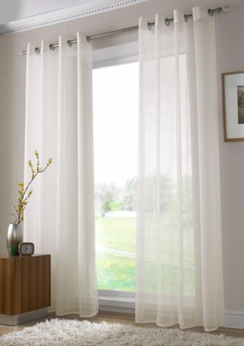 Ring Top Chiffon Cutain Voil Panel Curtain Sheer Curtain Panel