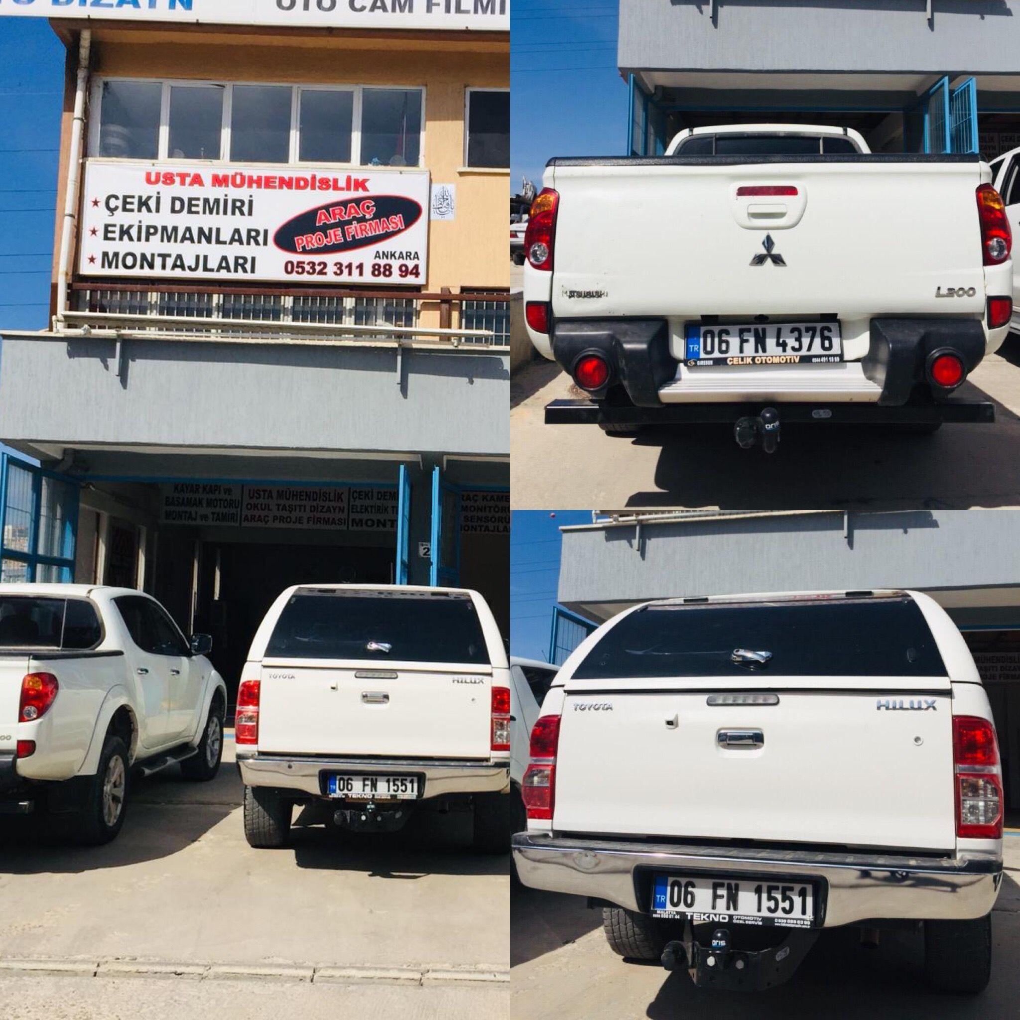 Usta Muhendislik Ankara Ceki Demiri Sistemi Montaj Servisi Arac Proje Firmasi Toyota Ford Ranger Ankara