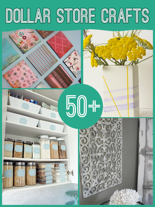 60 projects to make with dollar store supplies dollar for Dollar store items online