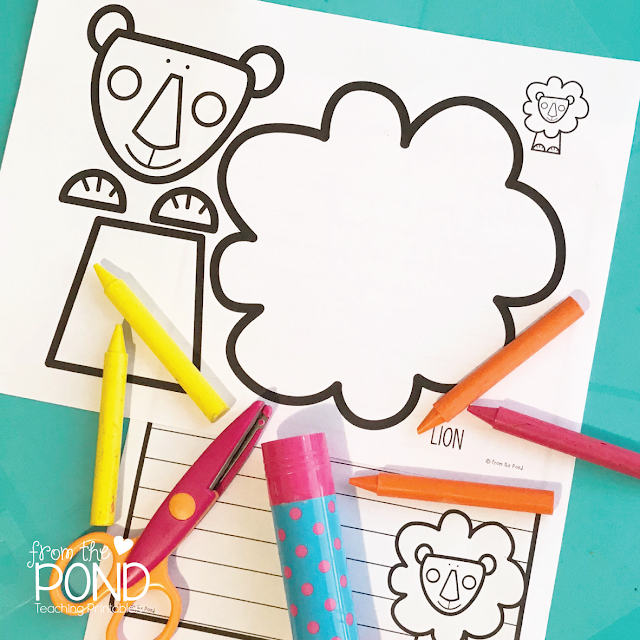 lion one page craft freebie kindergarten activities and students