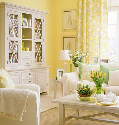Appealing Why Should I Paint My Yellow Living Room ?: Cool Yellow Living  Room With A Lot Of Furniture And Decoration And The Bright Sun Also Butter  Yellow ... Awesome Ideas