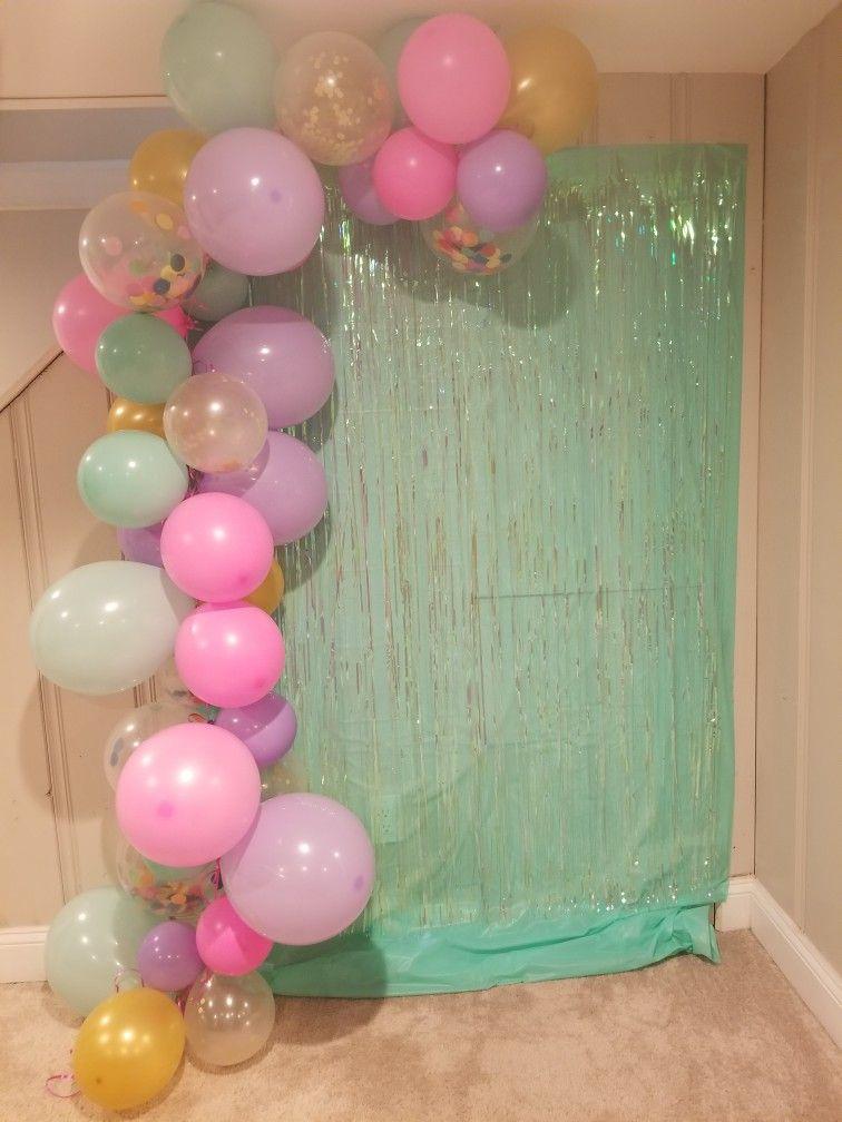 Balloon Garland Backdrop Unicorn Birthday Parties Birthday Balloon Decorations Unicorn Themed Birthday Party