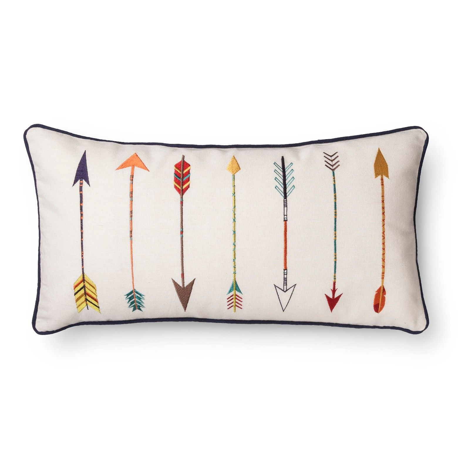 Add Some Color To Your Bedding Collection With The Mudhut Almeria Arrow Pillow In Multicolored Embroidered Arrows Arrow Pillow Adventure Throw Pillow Pillows