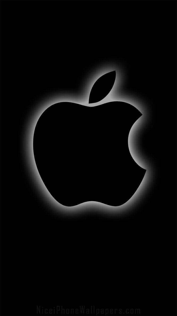 Black Apple Iphone 6 6 Plus Wallpaper And Background Black Apple Wallpaper Apple Wallpaper Iphone Apple Wallpaper