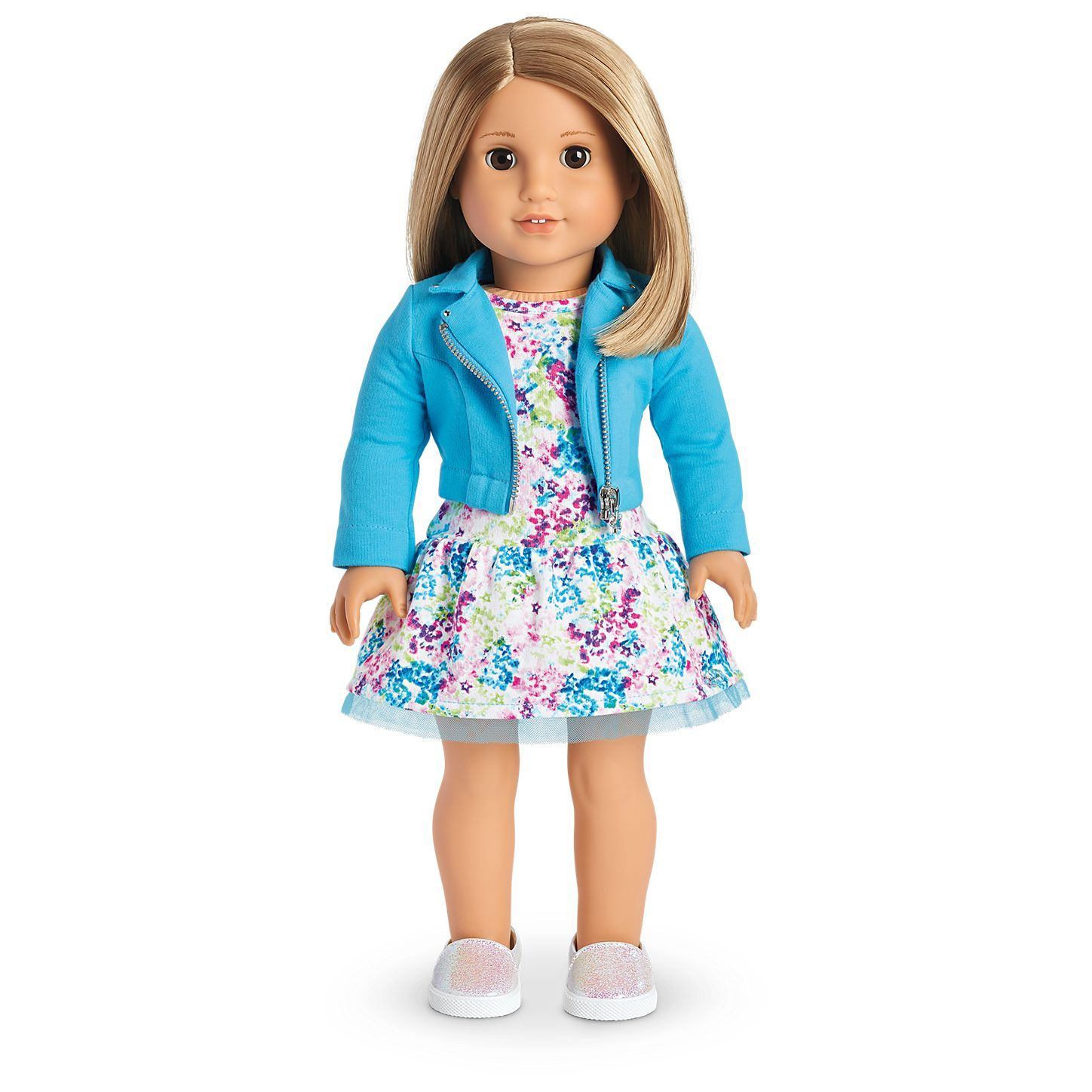 Medium Teal doll clothes fit Sparkle Girlz and other dolls Sweater for Barbie