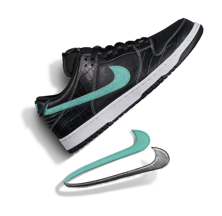 online retailer 86ef3 ecda3 Diamond Supply Co Nike SB Dunk Low Black Diamond Release Date