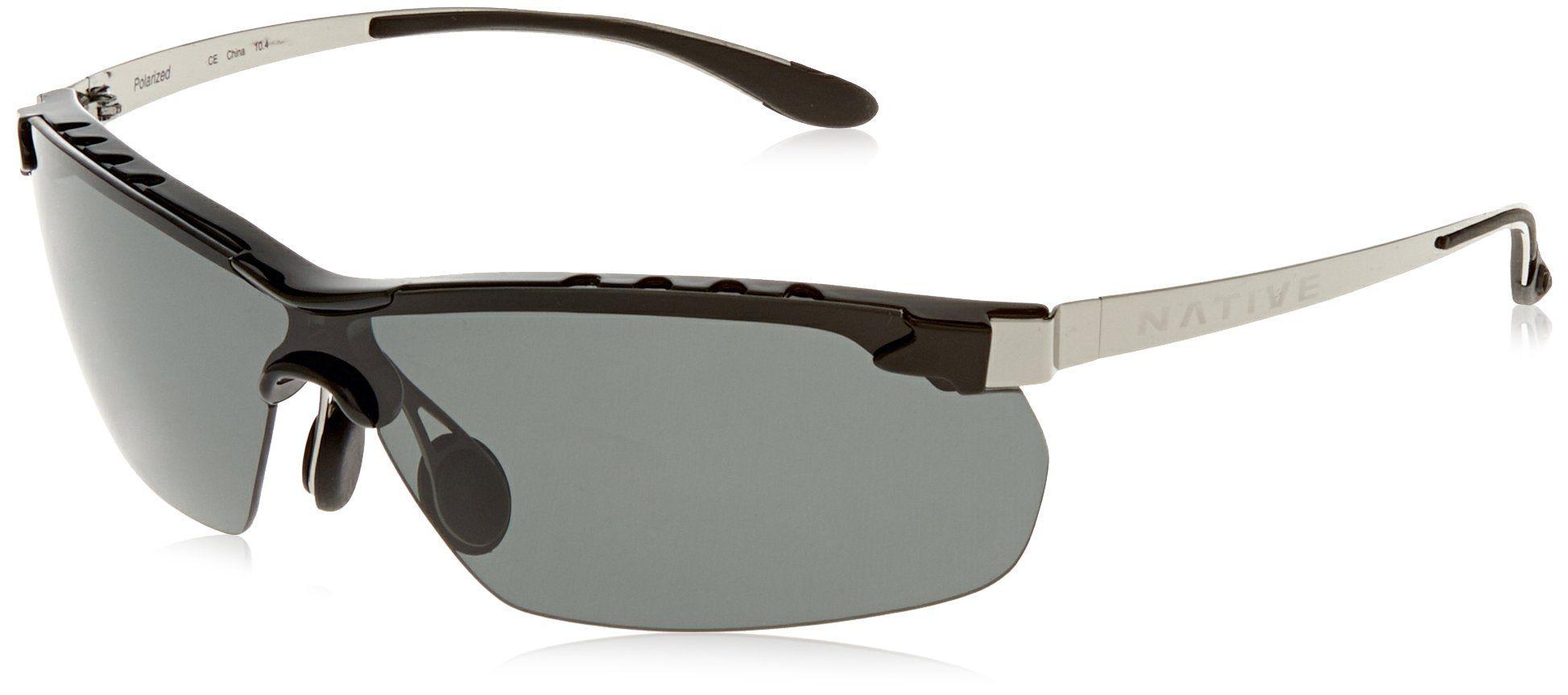 9bba5b38a8 Native Eyewear Frisco Sun Glasses (Silver Reflex/Gray, Chrome/Iron ...