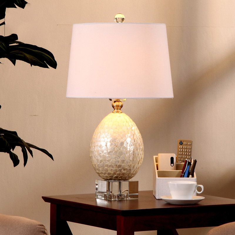 Luxury White Fish scales Shape Modern Simple Table Lamps Living Room ...