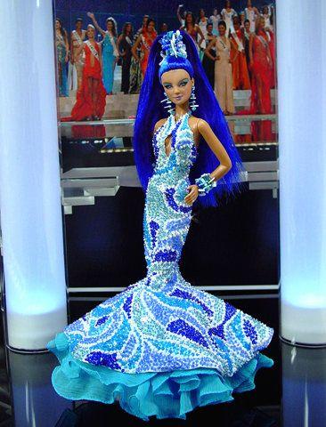 *-* OOAK Barbie NiniMomo's Miss Tahiti 2011