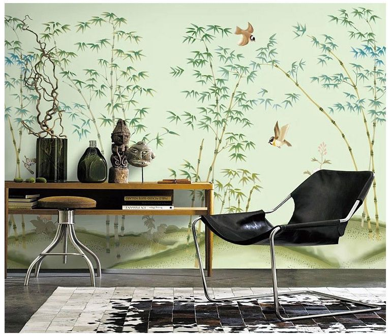 Best Ms Modern Murals Tv Background Bedroom Chinese Bamboo 400 x 300