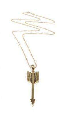 Mimi et Toi – Brass Arrow Necklace  http://www.maisonmiau.com
