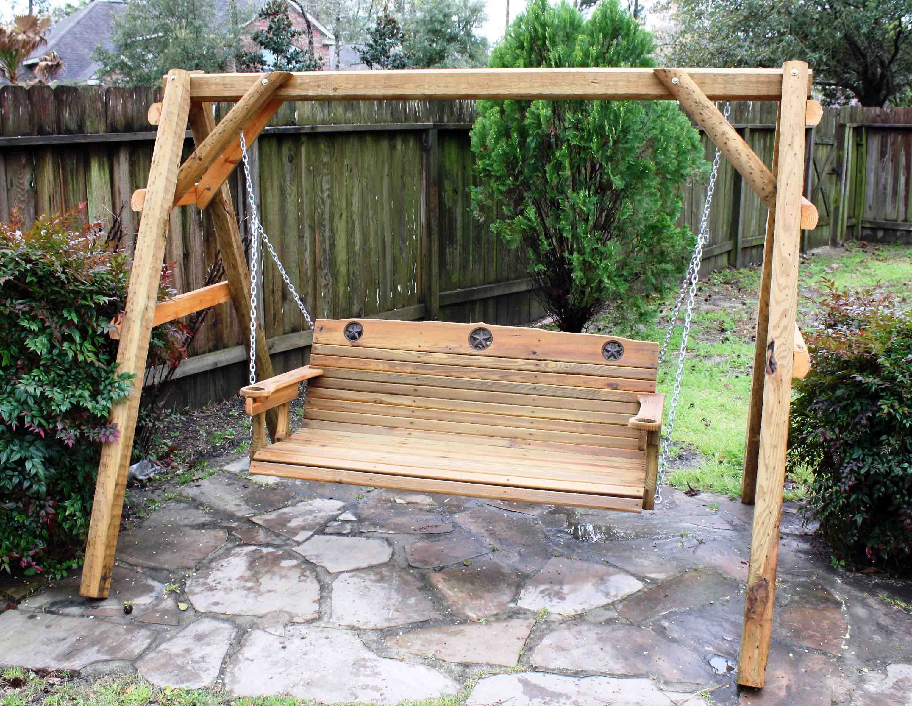 This 5 Ft Porch Swing Is Made Of ACQ Pressure Treated