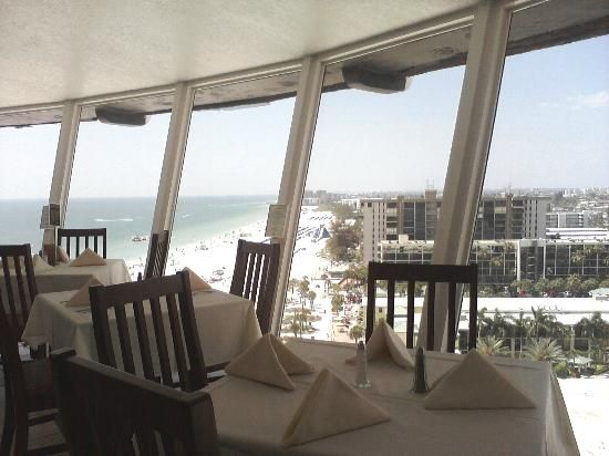 Spinners Rooftop Revolving Bistro Grand Plaza Resort Hotel St Petersburg Beach Fl