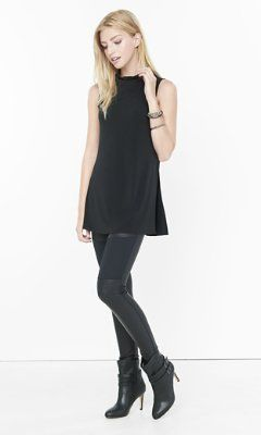 50981783ad mock neck high slit tunic from EXPRESS
