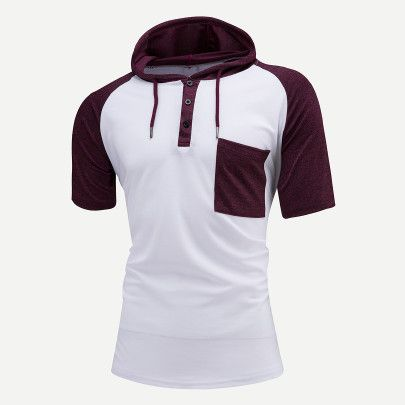 208e34bbf7ae Shop Men Color Block Hooded Sweatshirt online. SheIn offers Men Color Block  Hooded Sweatshirt & more to fit your fashionable needs.
