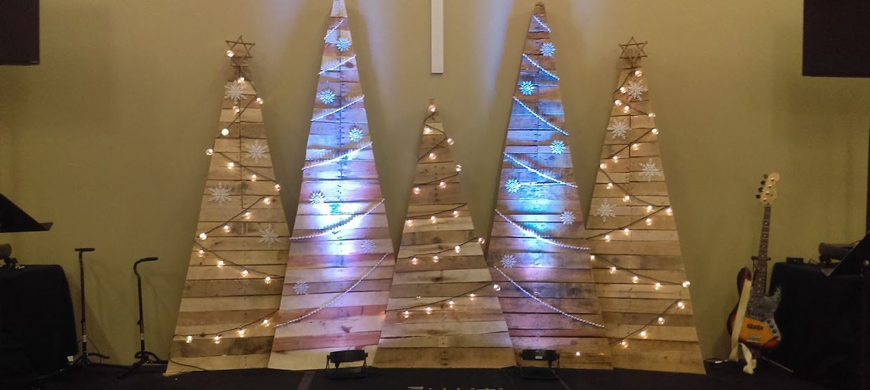 Simple Trees Stage Design From Radiant Life Church In Wadsworth OH