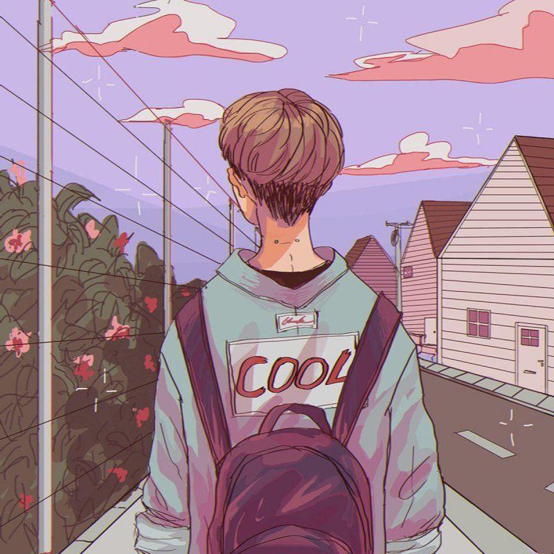 anime aesthetic vaporwave guy boy avatar in 2020   Tapety ...