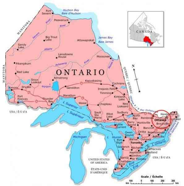 cool Map Ontario Lakes