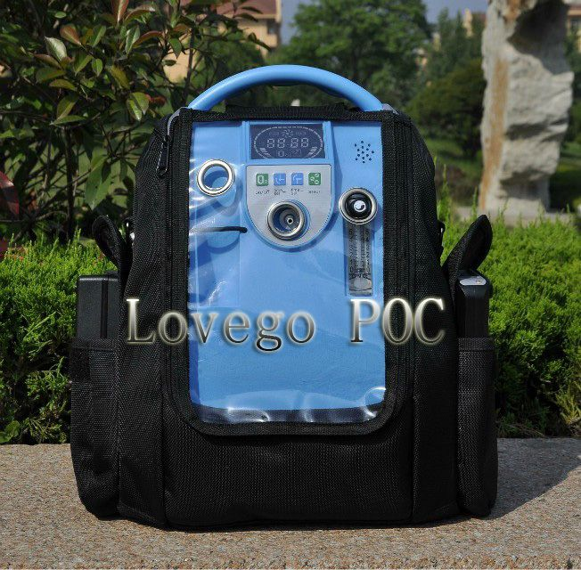 2015 newest medical portable oxygen concentrator matched with two