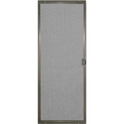 Screen Tight Patio Matic Bronze Aluminum Screen Door (Common: 30-in x 80