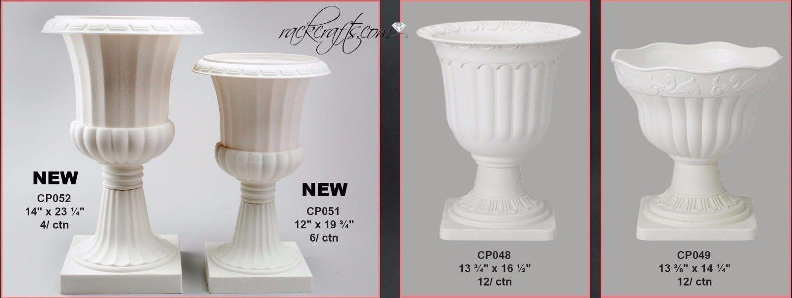 Large Rubber Plastic Roman Greek Planters Pots Urns Vases Plants Wedding Garden Plastic Vase Urn Vase Planter Pots
