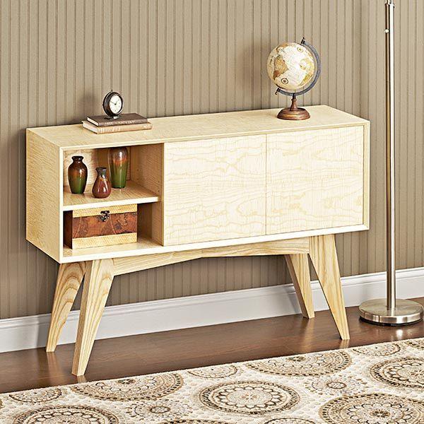 Mid Century Modern Credenza Woodworking Plan From WOOD Magazine