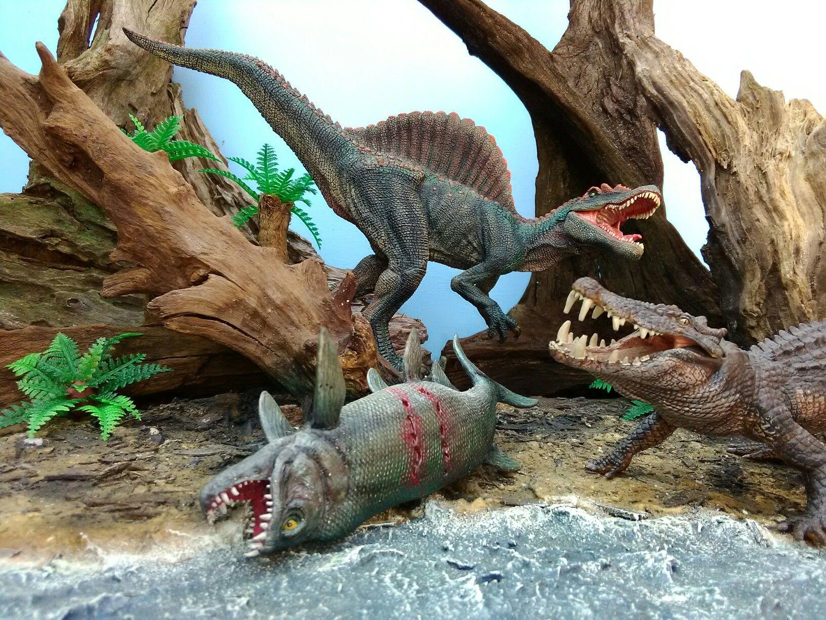 Dinosaur Scene Customized Models Homemade Base