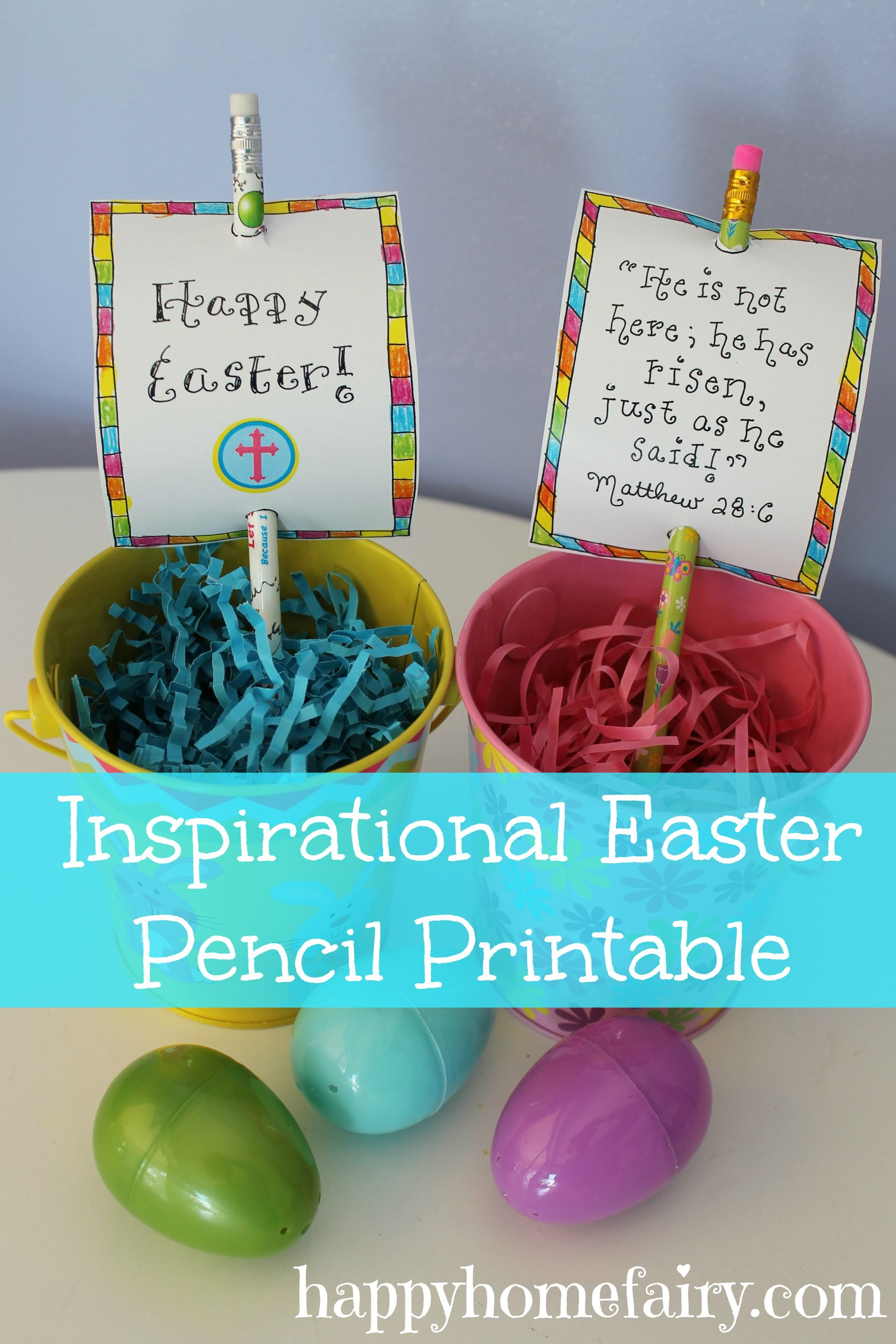 Easter Ideas Happy Home Fairy Easter Pencils Printable Easter Activities Easter Gifts For Kids