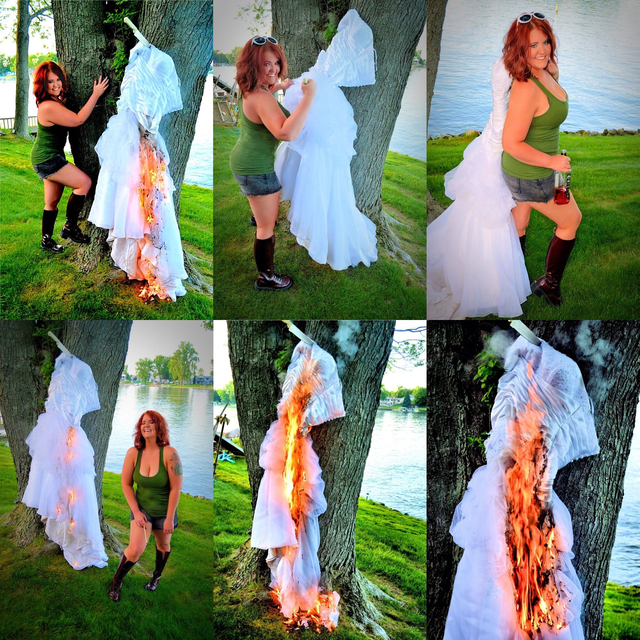 After The Wedding Dress Ideas: Trash The Dress Divorce Style!!!