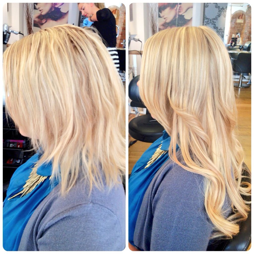 A Full Set Of Cinderella Hair Extensions Creating Luscious Long