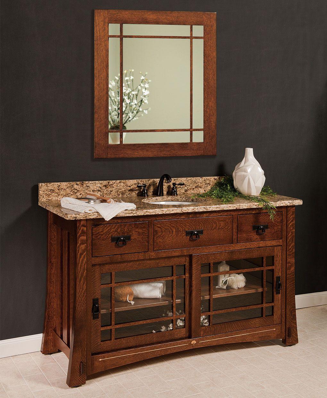 Morgan Amish Bathroom Vanity in 2020 | Bathroom furniture ...