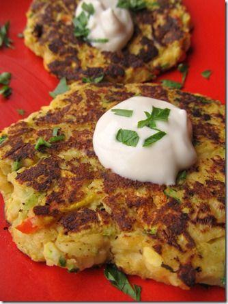 Chickpea Veggie Pancakes. PartTimeHealthNut