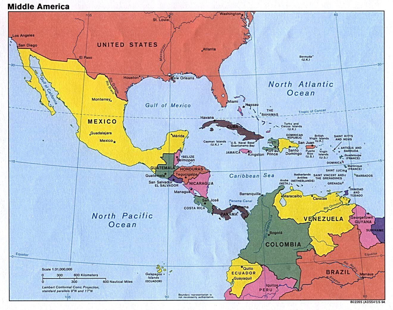 Mittelamerika Karte Staaten.Mittelamerika Länder Wissen Mittelamerika Amerika Und Landkarte